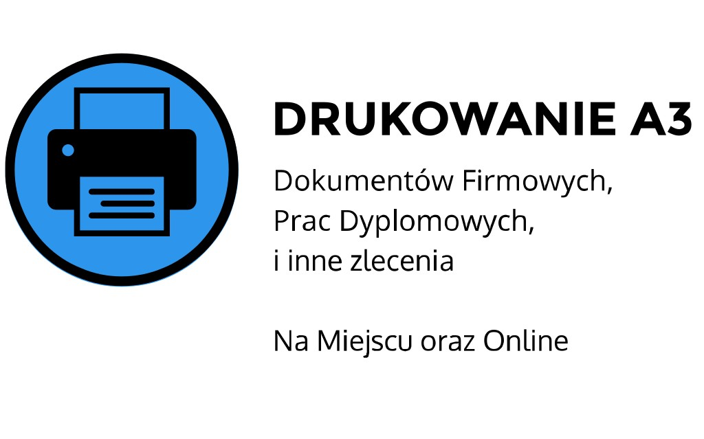 Drukowanie A3 ul. Szlak, Kraków