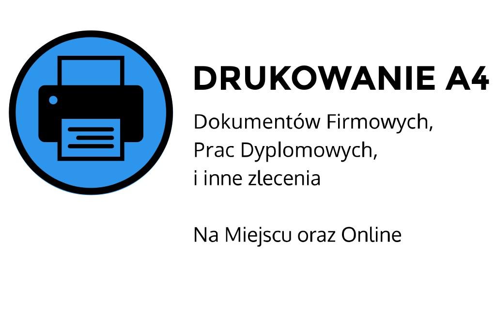 Drukowanie A4 ul. Łobzowska, Kraków