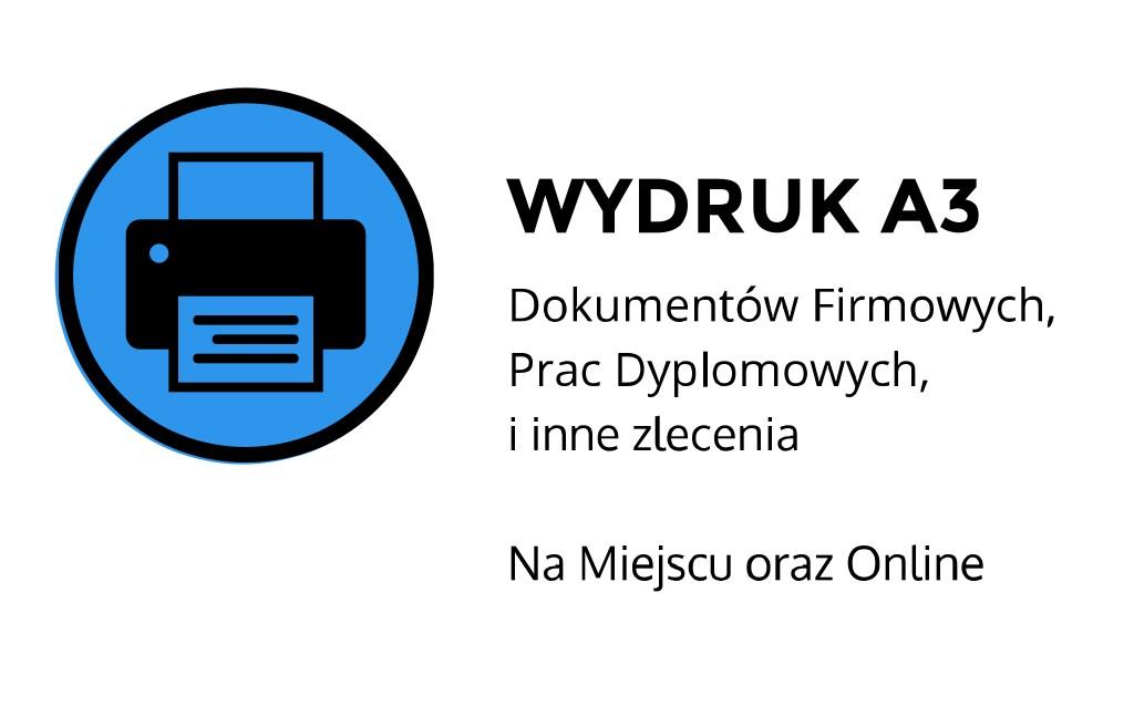Wydruk a3 ul. Łobzowska, Kraków