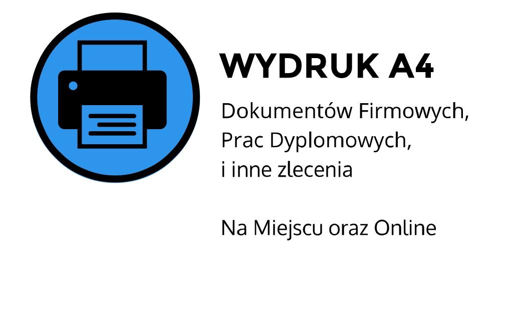 Wydruk a4 ul. Łobzowska, Kraków