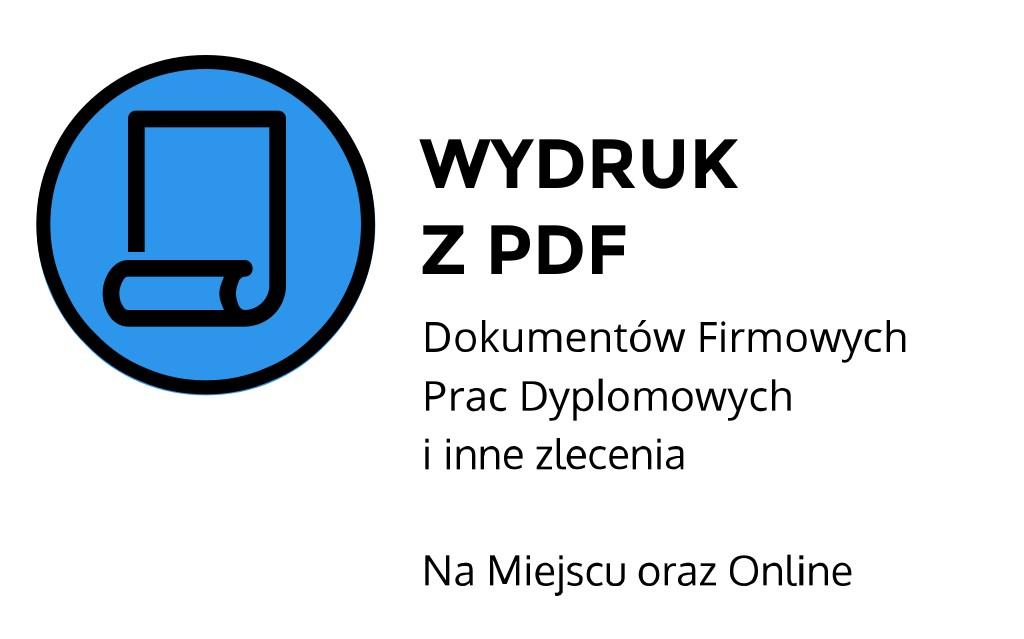 Wydruk z pdf ul. Mickiewicza, Kraków