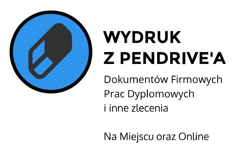 Wydruk z pendriva ul. Łobzowska, Kraków