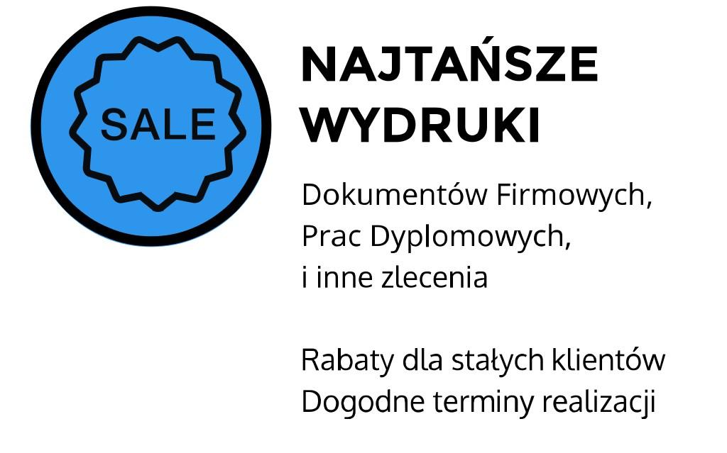 najtańsze wydruki Kraków Staszica