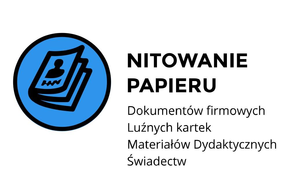 nitowanie papieru Kraków Staszica