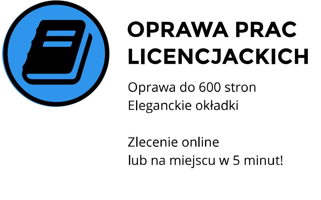 oprawa prac licencjackich cena Kraków Staszica