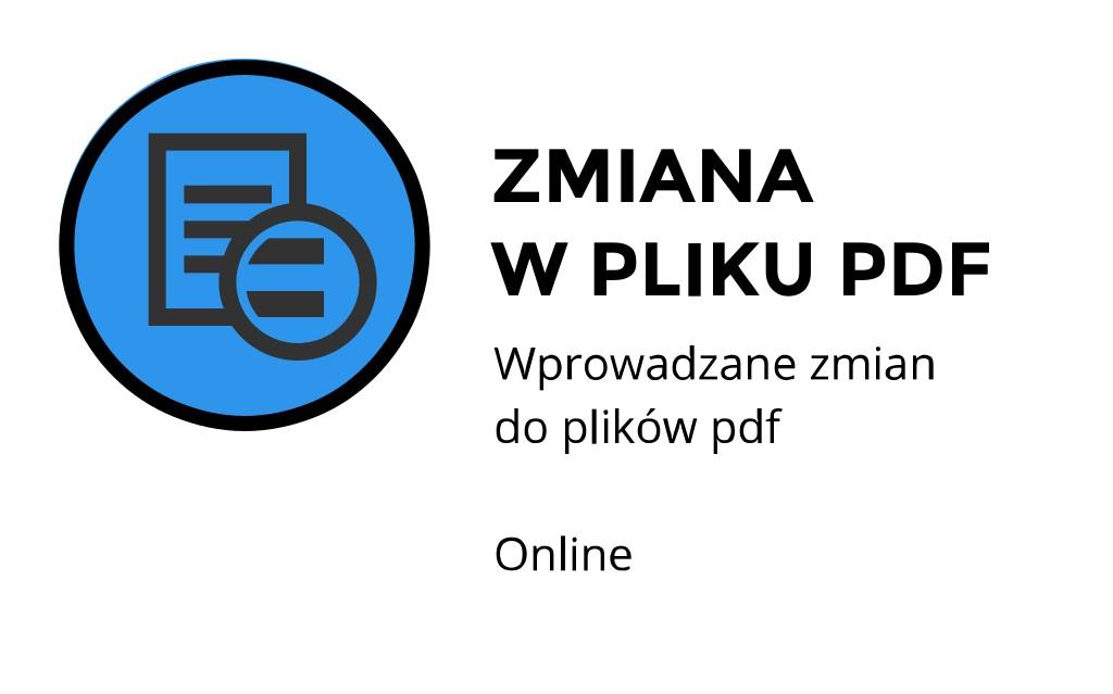 zmiana w pliku pdf Kraków Wrocławska